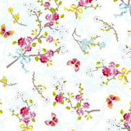 375070 - Pip Studio 4 Chinese Roses White Pink Green Blue Eijffinger Wallpaper