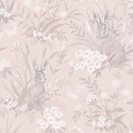 90810 - Patterdale Woodland Animals Pink Holden Decor Wallpaper