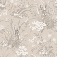 90813 - Patterdale Country Hares Taupe Holden Decor Wallpaper