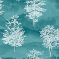 90821 - Patterdale Silhouette Trees Teal Holden Decor Wallpaper