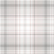 90831 - Patterdale Tartan Plaid Grey Pink Holden Decor Wallpaper