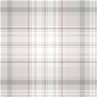 90831 - Patterdale Tartan Plaid Grey Pink Holden Decor Wallpaper