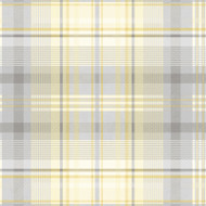 90832 - Patterdale Tartan Plaid Yellow Grey Holden Decor Wallpaper