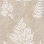 90840 - Patterdale Leaf Leaves Taupe Holden Decor Wallpaper