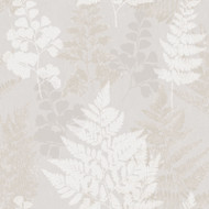 90841 - Patterdale Leaf Leaves Grey Gold Holden Decor Wallpaper