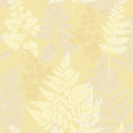 90843 - Patterdale Leaf Leaves Yellow Holden Decor Wallpaper