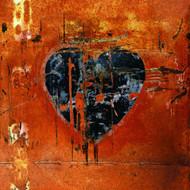 G45285 - Grunge Heart Black Orange Galerie Wallpaper Mural