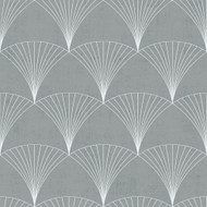 12004 - Design Fan Motifs Light grey Galerie Wallpaper