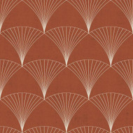 12002 - Design Fan Motifs Orange Galerie Wallpaper