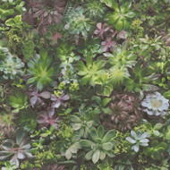 7322 - Evergreen Foliage Green Lilac Galerie Wallpaper