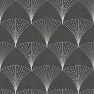 12001 - Design Fan Motifs Black Galerie Wallpaper