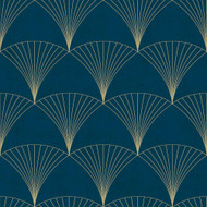 12000 - Design Fan Motifs Blue Galerie Wallpaper