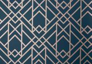 1907-140-01 - Elodie Geometric Symmetrical Lines Midnight Black 1838 Wallpaper