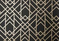 1907-140-03 - Elodie Geometric Symmetrical Lines Jet 1838 Wallpaper