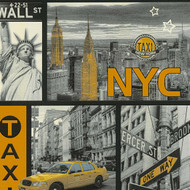 300451 - Boys & Girls New York NYC Grey Yellow AS Creation Wallpaper