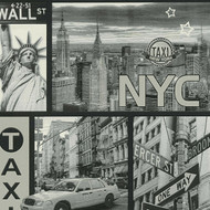 300452 - Boys & Girls New York NYC Grey White AS Creation Wallpaper