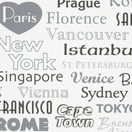 304671 - Boys & Girls Famous Cities Grey White AS Creation Wallpaper