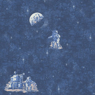 304891 - Boys & Girls Spaceman Space Blue AS Creation Wallpaper