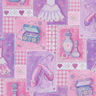 305971 - Boys & Girls Ballerina Girlie Lilac Pink AS Creation Wallpaper
