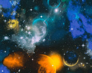 340661 - Boys & Girls Stars Galaxy Multicoloured AS Creation Wallpaper