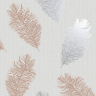 75890 - Astonia Feathers Grey Rose Gold Holden Wallpaper