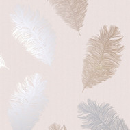 75891 - Astonia Feathers Blush Pink Holden Wallpaper