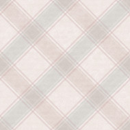 90742 - Whitcliffe Checked Plaid Pink Grey Holden Wallpaper