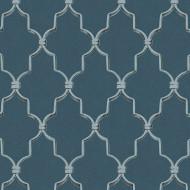 ES31122 - Escape Decorative Stone Trellis Blue Galerie Wallpaper