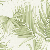 ES31132 - Escape Palm Trees Leaves Cream Galerie Wallpaper