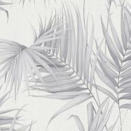 ES31135 - Escape Palm Trees Leaves Grey Galerie Wallpaper