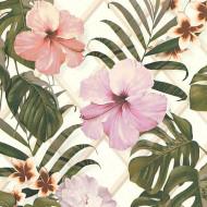 ES31142 - Escape Tropical Blooms Leaves Jungle Green Galerie Wallpaper