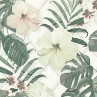 ES31143 - Escape Tropical Blooms Leaves Jungle Cream Galerie Wallpaper