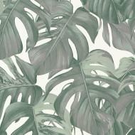 ES31144 - Escape Jungle Leaves Tropical Grey Galerie Wallpaper