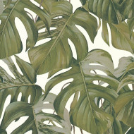 ES31145 - Escape Jungle Leaves Tropical Grey Galerie Wallpaper