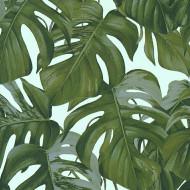 ES31146 - Escape Jungle Leaves Tropical Blue Galerie Wallpaper