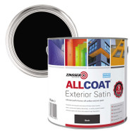 Details about  1ltr Zinsser AllCoat Multi Surface Paint Satin Finish Black *No Primer*