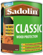 Sadolin Classic Wood Protection Wood Stain Teak 1 Litre