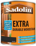 Sadolin Extra Wood Protection Wood Stain Ebony 1 Litre