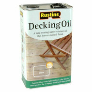 2.5lt Rustins Clear Decking Oil Solvent Based DOIL2500
