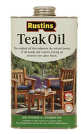 2.5lt Rustins Solvent Oil Based Teak Oil Interior Exterior Wood Treatment