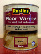 2.5ltr Rustins Clear Satin Finish Quick Drying Floor Varnish