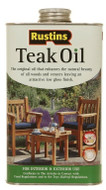 1lt Rustins Clear Solvent Oil Based Teak Oil For Exterior Wood