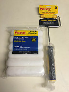"""Purdy Jumbo Mini Roller Frame Plus 6 x 6.5"""" White Dove Paint Rollers"""