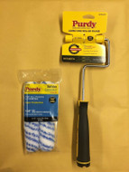 """Purdy Jumbo Mini Roller Frame Plus 2 x 6.5"""" Colossus 1/2"""" Nap Paint Rollers"""