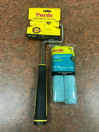 """Purdy Jumbo Mini Roller Frame Plus 2 x 6.5"""" Parrot Mohair 1/4"""" Nap Paint Rollers"""