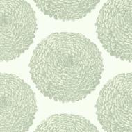 112174 - Momentum 6 Pompom Dahlias Chalk Silver Harlequin Wallpaper