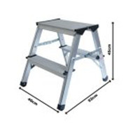 ProDec 45cm Aluminium Step Up Stool Lightweight & Practical LFD44AL