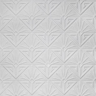 Anaglypta White Textured Paintable Art Deco Paradiso Wallpaper RD576