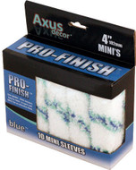 Axus Decor Pro-Finish Mini Roller Sleeve - Blue (Pack of 10) AXU/RB410