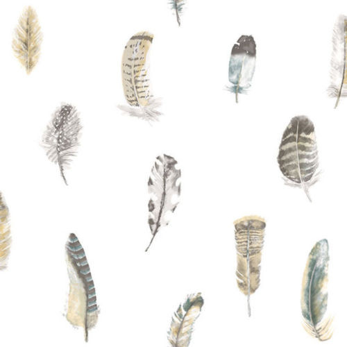 G56402 Global Fusion Multicoloured Feathers Galerie Wallpaper